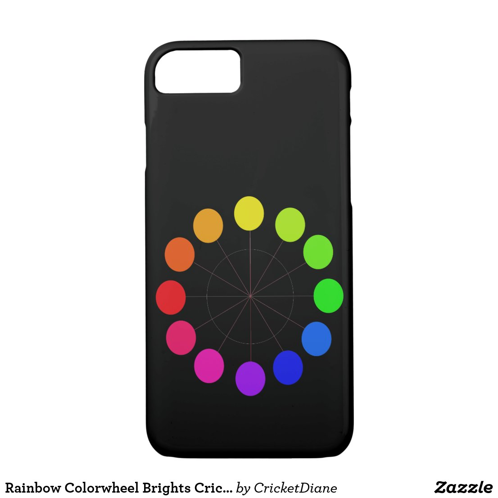 Rainbow Colorwheel Brights CricketDiane Fun iPhone 8/7 Case