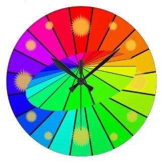 Rainbow Colorwheel Spectrum Sun Clock