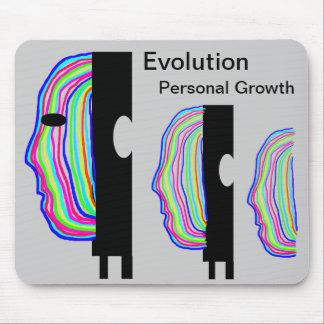 Rainbow coloured heads evolving mousemat