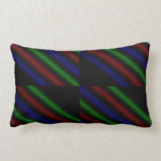 Rainbow Coloured Lines, Lumbar Cushion. Lumbar Pillow