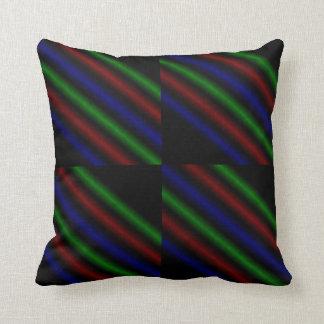 Rainbow Coloured Lines, Throw Cushion. Throw Pillow