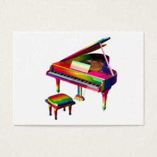 Rainbow Coloured Piano Business Card