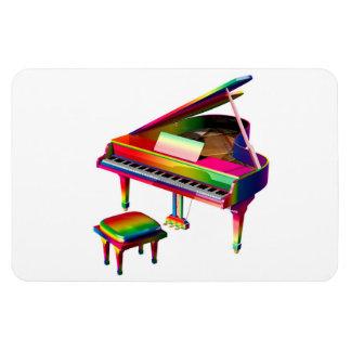 Rainbow Coloured Piano Magnet