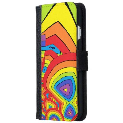 Rainbow colours iPhone 6/6s wallet case