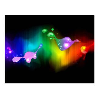 rainbow colours postcard