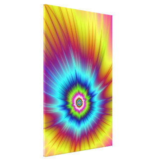 Rainbow Comet Canvas Print