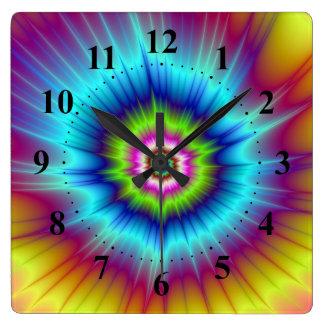 Rainbow Comet Wall Clock