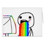 Rainbow Computer face Greeting Cards