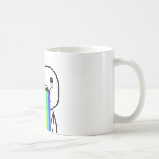 Rainbow Computer Face Guy Coffee Mug