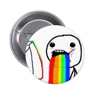 Rainbow Computer Face Guy Pinback Button