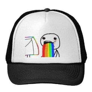 Rainbow Computer Face Guy Trucker Hat