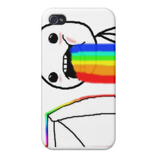 Rainbow Computer face iPhone 4 Cover