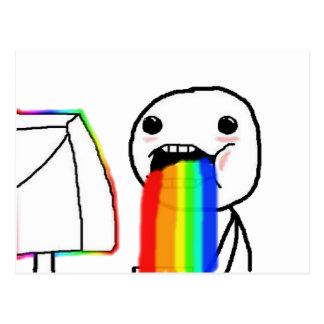 Rainbow computer face postcard