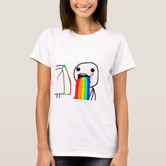 Rainbow computer face T-Shirt