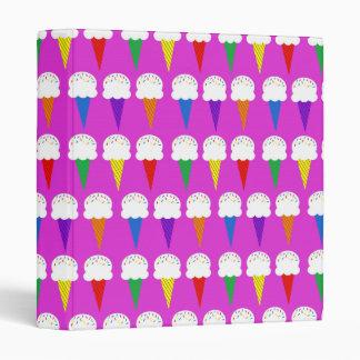 Rainbow Cones on Purplish Pink Binder