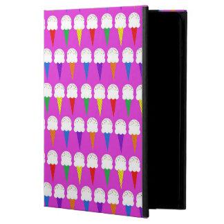 Rainbow Cones on Purplish Pink Case For iPad Air