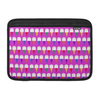 Rainbow Cones on Purplish Pink MacBook Sleeve