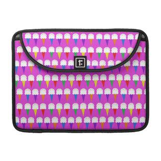 Rainbow Cones on Purplish Pink Sleeves For MacBook Pro