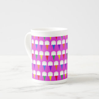 Rainbow Cones on Purplish Pink Tea Cup
