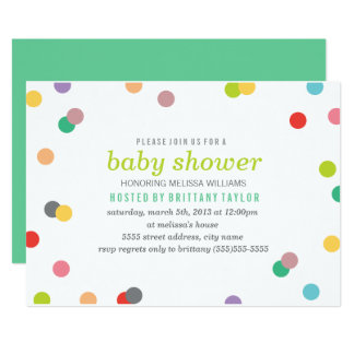 Rainbow Confetti Baby Shower Invite