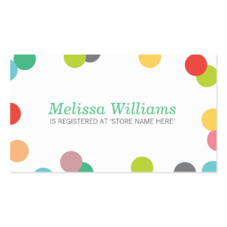Rainbow Confetti Baby Shower Registry Insert Card Business Card Templates