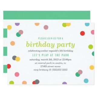 Rainbow Confetti Birthday Invite