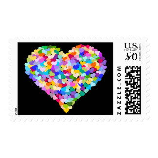 Rainbow Confetti Hearts stamps