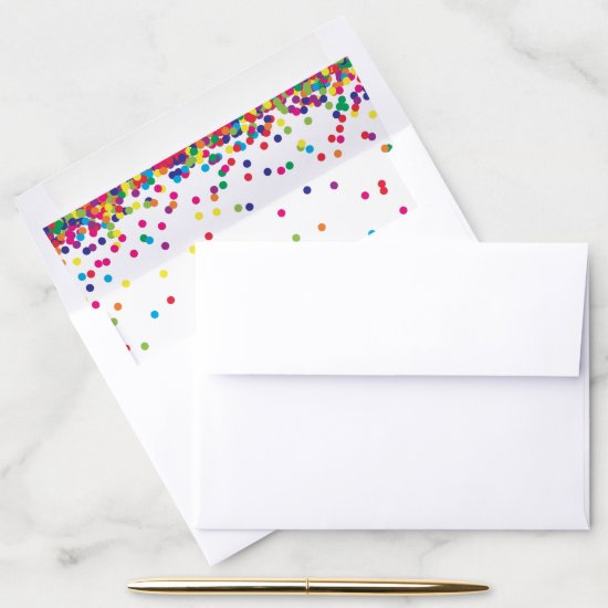 Rainbow Confetti in bright colors Envelope Liner