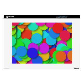 Rainbow Confetti Pattern Decals For Laptops