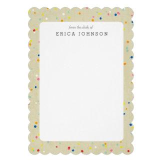 Rainbow Confetti Sprinkle Dots Print Invitation