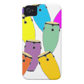 rainbow congas iPhone 4 cover
