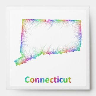 Rainbow Connecticut map Envelope