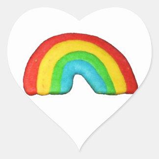 Rainbow Cookie Heart Sticker