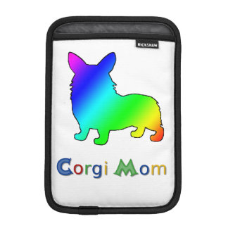 Rainbow Corgi Mom iPad Mini Sleeve