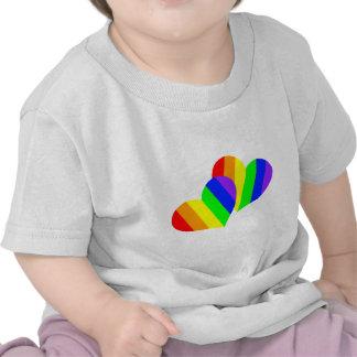 Rainbow Couple Hearts Tshirt