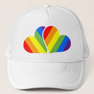 Rainbow Couple Trucker Hat