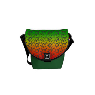 Rainbow covered messenger bag