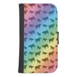 Rainbow cow pattern galaxy s4 wallet