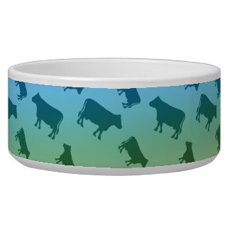 Rainbow cow pattern dog bowl