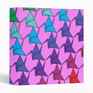 Rainbow cranes folder binders