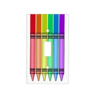 Rainbow Crayon Light Switch Plates