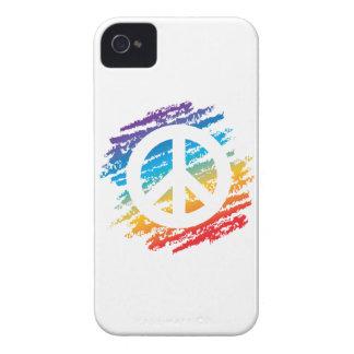 Rainbow Crayon Peace Symbol iPhone 4 Cover
