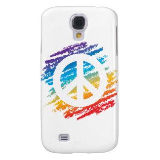 Rainbow Crayon Peace Symbol Galaxy S4 Case