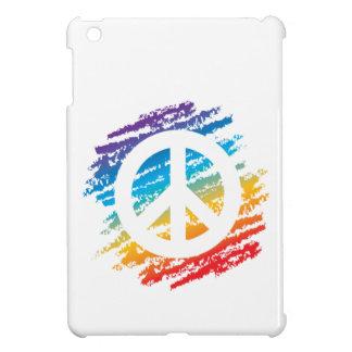 Rainbow Crayon Peace Symbol iPad Mini Case