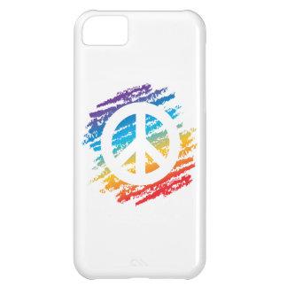 Rainbow Crayon Peace Symbol iPhone 5C Cover