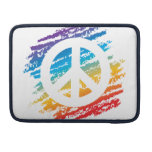 Rainbow Crayon Peace Symbol Sleeves For MacBook Pro