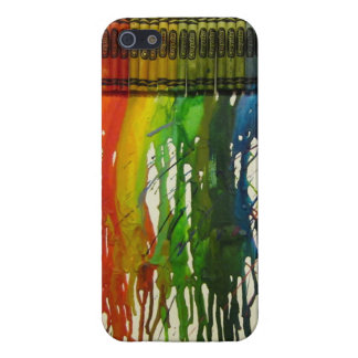 Rainbow Crayon Splatter Cover For iPhone SE/5/5s