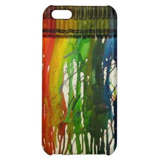 Rainbow Crayon Splatter iPhone 5C Case