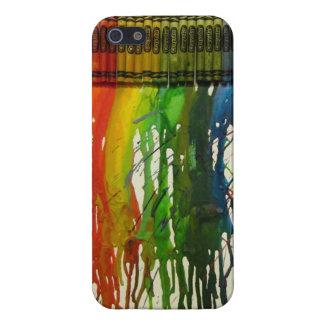 Rainbow Crayon Splatter iPhone 5 Cover