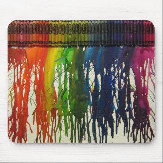 Rainbow Crayon Splatter Mouse Pad